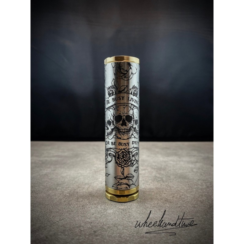 MOD MECA TITAN POLISHED SKULL (18650 -24MM )